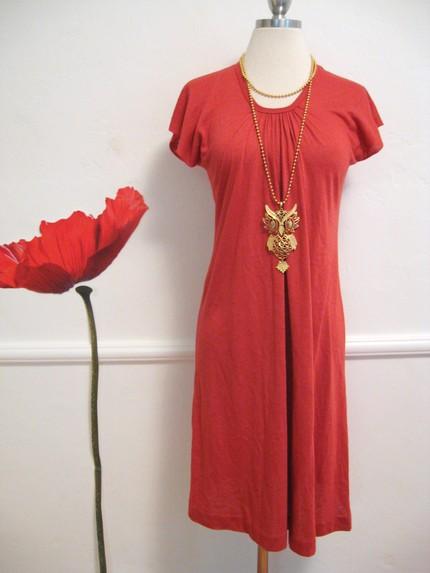 70s-hippie-boho-vintage-rust-tshirt-dress