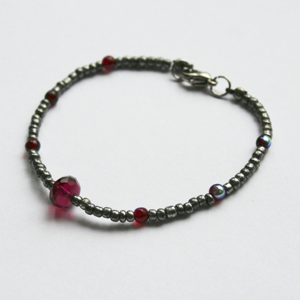 etsy-silver-red-and-fuschia-bracelet